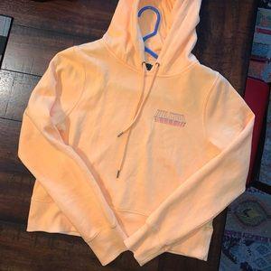 Neon Orange Volcom Cropped Hoodie